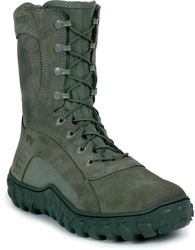 Rocky S2V 8-in Steel Toe Boots - Sage Green - Womens - GSA Boots