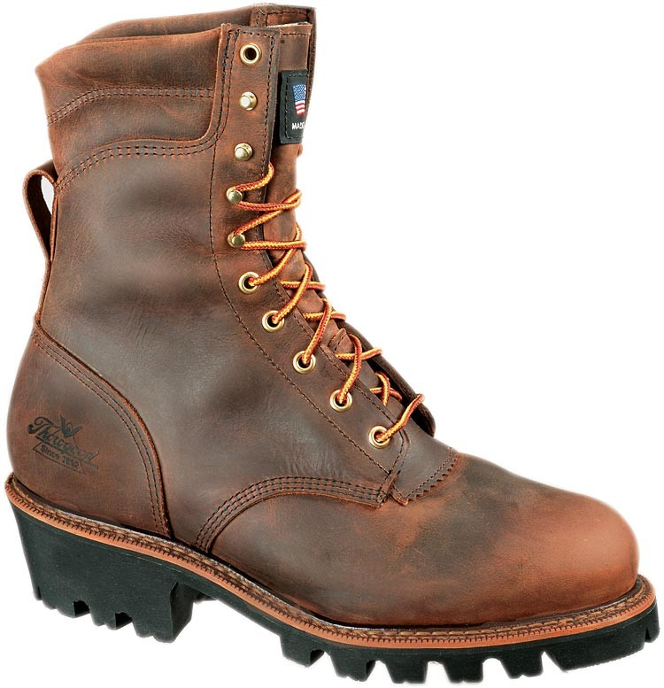 4c10058d6a4 Thorogood 8-in Waterproof/Insulated Safety Toe Logger Boots - Brown - Mens