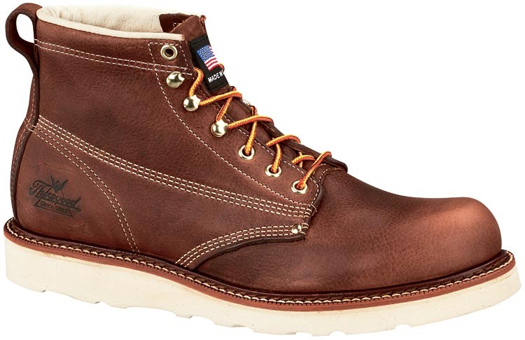 3e7bf4133ff Thorogood 6-in American Heritage Wedge Non-Safety Plain Toe Boots - Brown -  Mens
