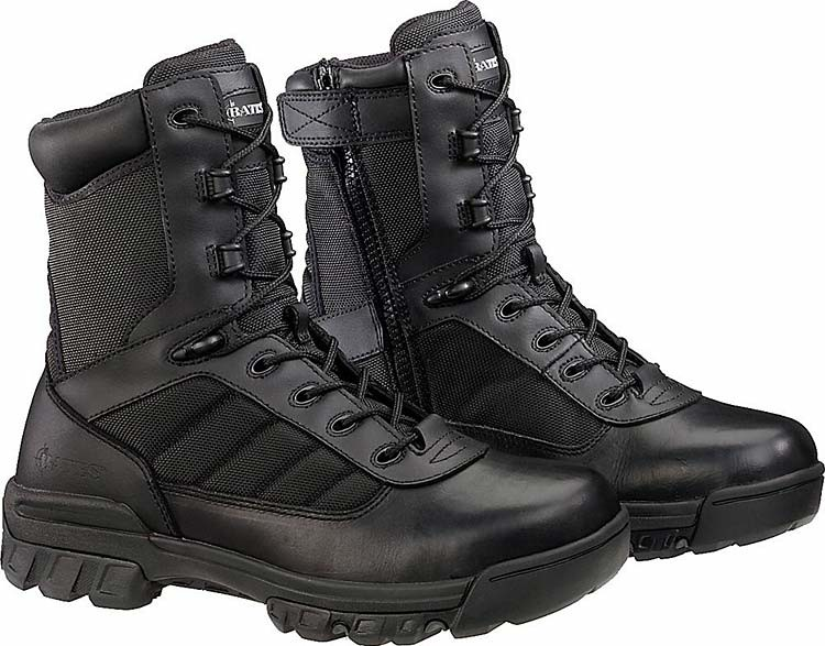 bd925f5aed9 Bates Enforcer Series Ultra-Lites 8-in Tactical Sport Side Zip Boots -  Black - Womens