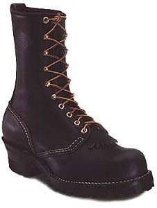 Wesco Jobmaster 10-in Regular Toe NFPA Boots - Black - Mens