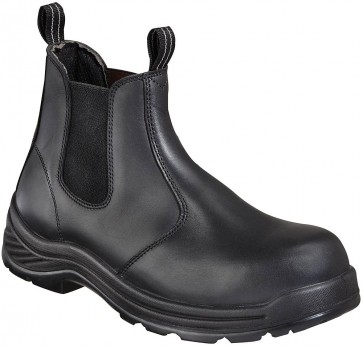 Thorogood 6-in Quick Release Composite Safety Toe Station Boots - Black - Mens