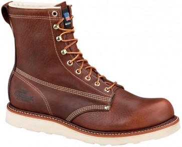 Thorogood 8-in American Heritage Wedge Non-Safety Plain Toe Waterproof/Insulated Boots - Brown - Mens