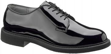 Bates 5-Eye High Gloss Oxford Shoes - Black - Mens