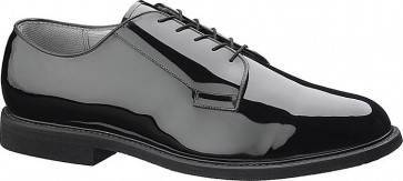 Bates Premium Black High Gloss Oxford Shoes - Black - Mens