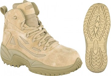 Reebok Stealth SWAT 6-in Safety-Toe Boot - Desert Tan - Mens