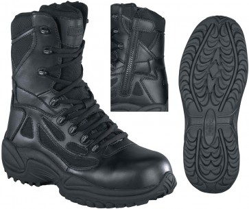 Reebok Stealth SWAT 8-in Safety-Toe Boot - Black - Mens