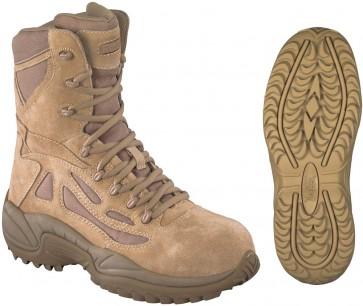 Reebok Stealth SWAT Side Zipper 8-in Safety-Toe Boot - Desert Tan - Womens
