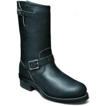 Chippewa 27863 Steel Toe Motorcycle Boots - Black - Mens