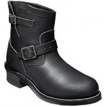 Chippewa 27872 7-in Black Steel Toe Motorcycle Boots - Black - Mens