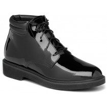 Rocky Dress Leather High Gloss Chukka Boots - Black - Mens