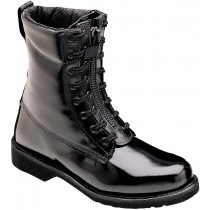 Thorogood 8-in Front Zip Uniform Boots - Black - Mens