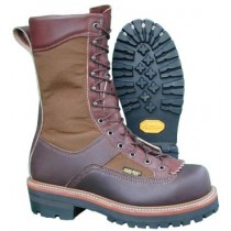 Hoffman Boots 10-in Powerline Insulated Steel Toe Boots - Brown - Mens