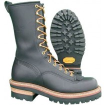 Hoffman Boots Pole Climber Steel Toe 10-in Boot - Black - Mens