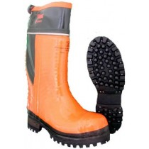 Hoffman Boots 14-in Pull-On Steel Toe Line Boots - Orange - Mens