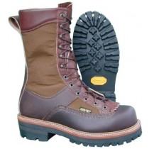 Hoffman Boots 10-in Powerline Steel Toe Boots - Brown - Mens