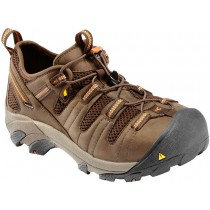 Keen Atlanta Cool Work Shoes - Shitake/Rust - Mens