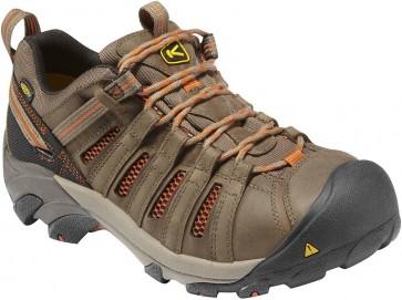 Keen Flint Low Steel Toe Work Shoes - Shitake Rust - Mens