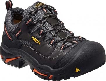 Keen Braddock Low Steel Toe Shoe - Black - Mens