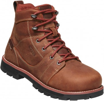 "Keen Seattle 6"" Waterproof Boot Aluminum Toe Boot - Gingerbread - Womens"