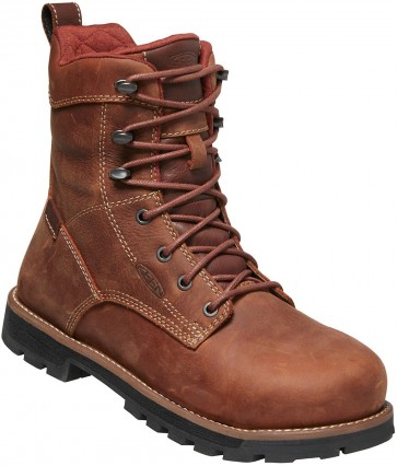 "Keen Seattle 8"" Waterproof Boot Aluminum Toe Boot - Gingerbread - Womens"