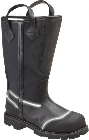 Thorogood 8-in Hellfire Black Hornet Structural Oblique Toe Bunker Boots - Black - Womens