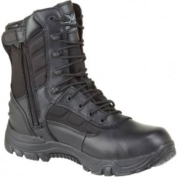 Thorogood 8-in Waterproof Side-Zip Safety Toe Deuce Boots - Black - Mens