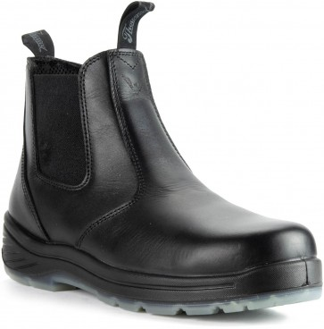 Thorogood 6-in Quick Release Safety Toe Station Boots - Black - Mens