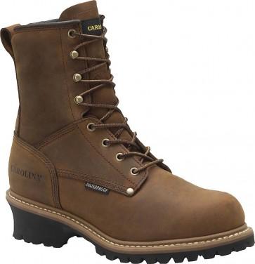 Carolina CA5821 8-inch Waterproof Insulated Steel Toe Logger Boots - Briar - Mens