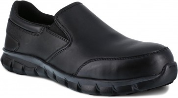 Reebok Sublite Cushion Slip-On Composite Toe Work Shoe - Black - Mens