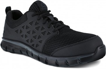 Reebok Sublite Cushion Composite Toe Work Shoe - Black - Mens