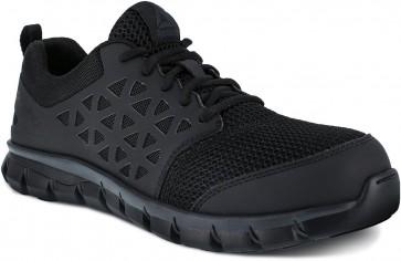 Reebok Sublite Cushion Composite Toe Work Shoe - Black - Womens