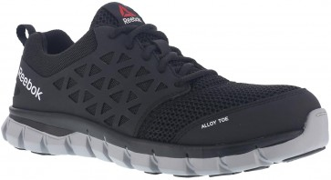 Reebok Sublite Cushion Alloy Toe Work Shoe - Black - Mens