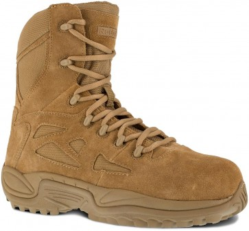 "Reebok Rapid Response RB 8"" Side Zipper Boot - Coyote - Womens"