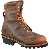 Thorogood 8-in Waterproof/Insulated Safety Toe Logger Boots - Brown - Mens