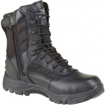 Thorogood 8-in Waterproof Side-Zip Safety Toe Deuce Boots - Black - Mens