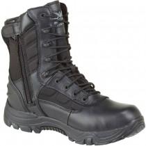 Thorogood 8-in Waterproof Side-Zip Safety Toe Deuce Boots - Black - Womens