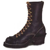 Wesco Highliner 10-in Lace-To-Toe Boots - Black - Mens