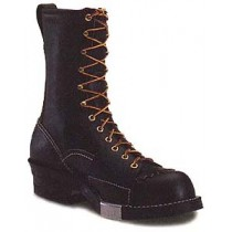 Wesco Highliner 10-in Lace-To-Toe w/ Side Plate Boots - Black - Mens
