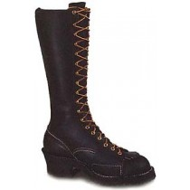 Wesco Highliner 16-in Lace-To-Toe Boots - Black - Mens