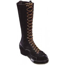 Wesco Highliner 16-in Lace-To-Toe w/ Side Plate Boots - Black - Mens