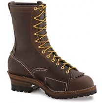 Wesco Highliner 10-in Lace-To-Toe Boots - Brown - Mens