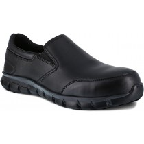 Reebok Sublite Cushion Slip-On Composite Toe Work Shoe - Black - Mens