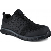 Reebok Sublite Cushion Composite Toe Work Shoe - Black - Mens