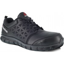 Reebok Sublite Cushion Leather Alloy Toe Work Shoe - Black - Mens