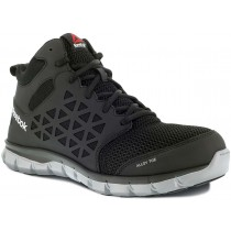 Reebok Sublite Cushion Mid Cut Alloy Toe Work Shoe - Black - Mens